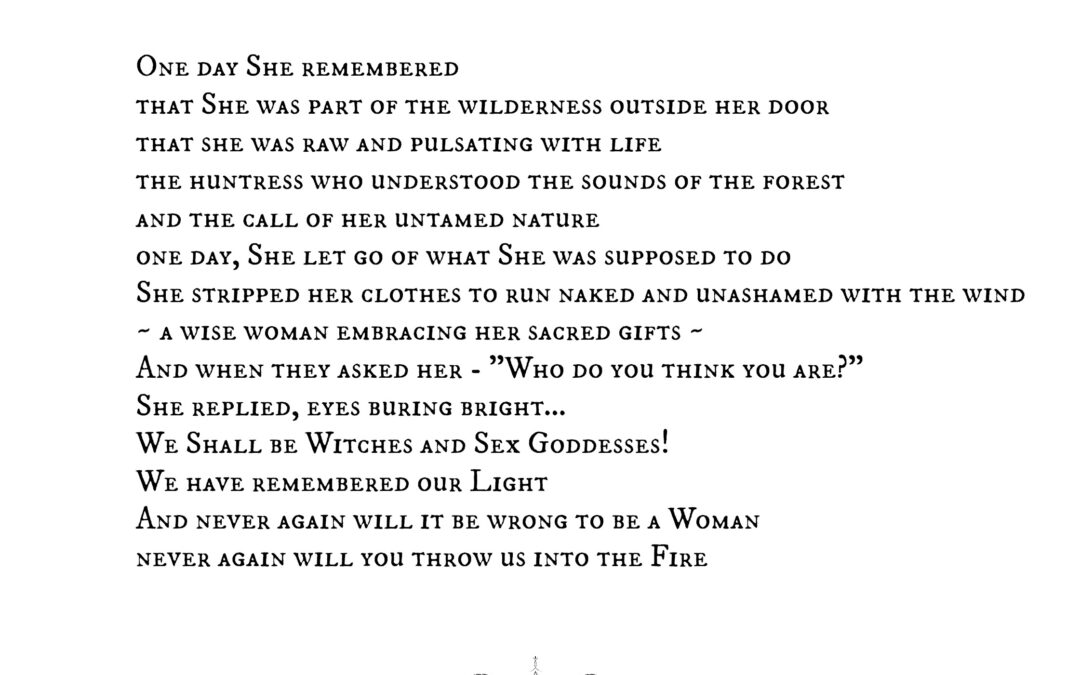 Woman, Witch. Woken.