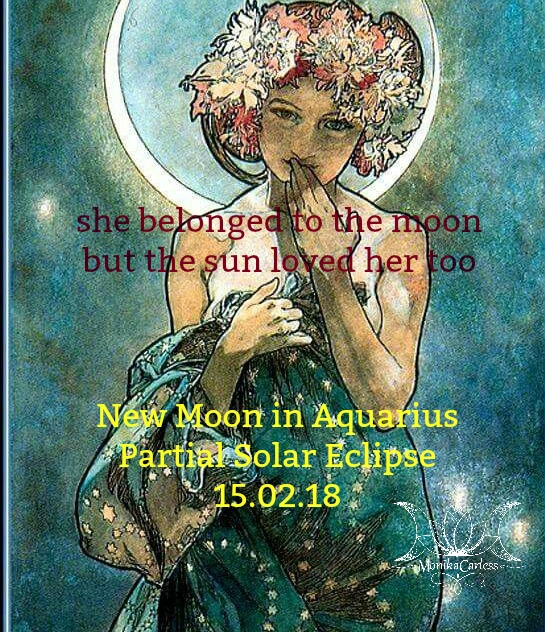New Moon in Aquarius & Partial Solar Eclipse. A Story for Seekers of Harmony.