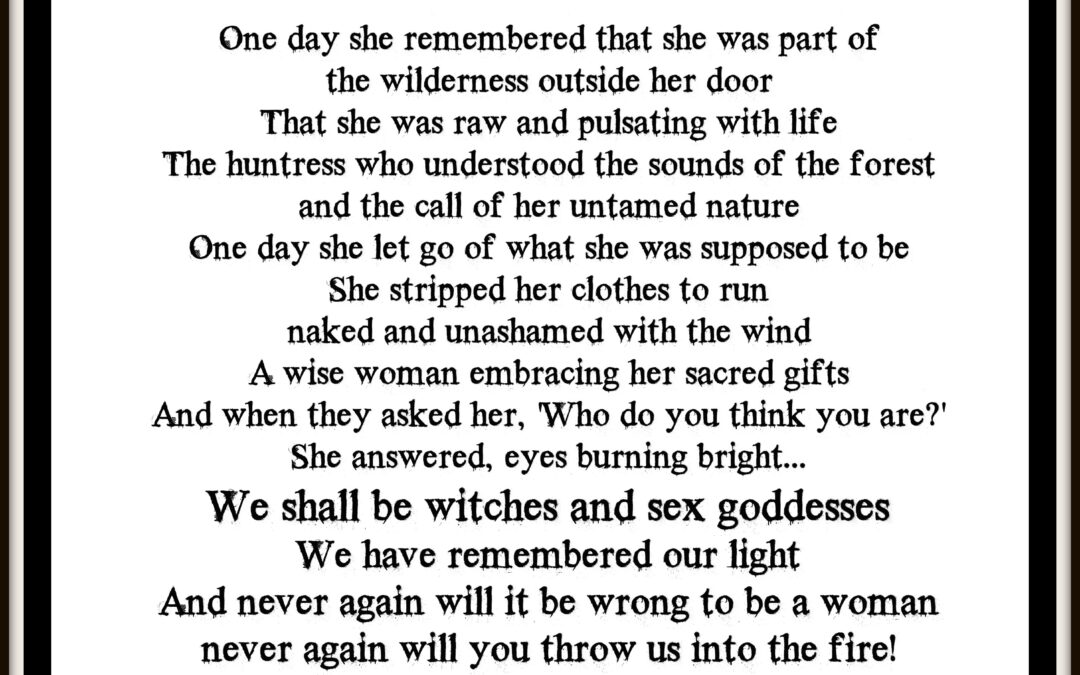 For the Witches.