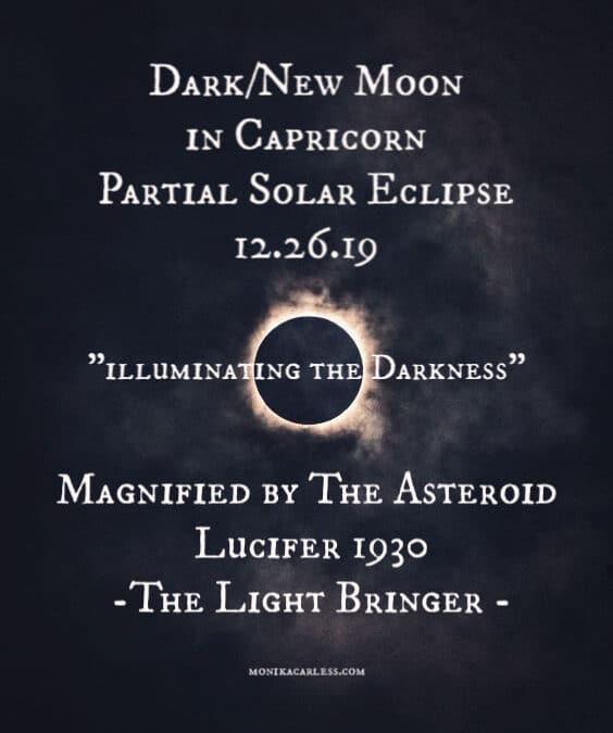 Dark Moon/ Partial Solar Eclipse in Capricorn Conjunct Jupiter 5.12 UT/GMT