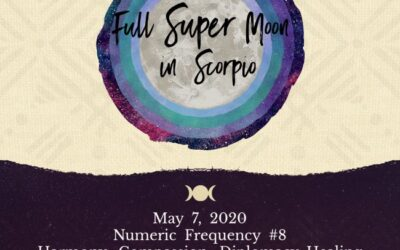 Full Super Flower Moon in Scorpio. Open to Joy and Optimism.