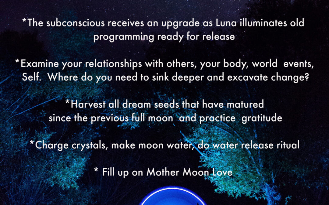 Full Moon in Capricorn and Lunar Eclipse – A Water Release Ritual